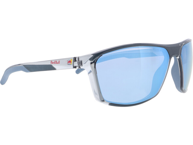 Red Bull SPECT Raze Sunglasses Men, shiny x'tal light grey/smoke-ice blue mirror